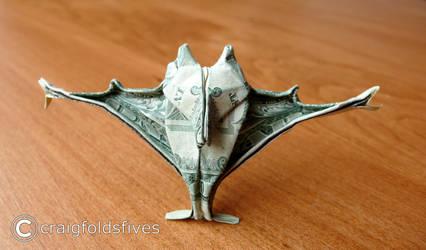 Dollar Origami Vampire Bat v3 by craigfoldsfives