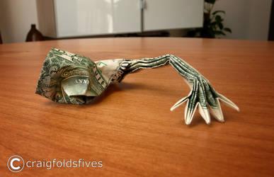 Dollar Origami Zombie Crawl v3 by craigfoldsfives