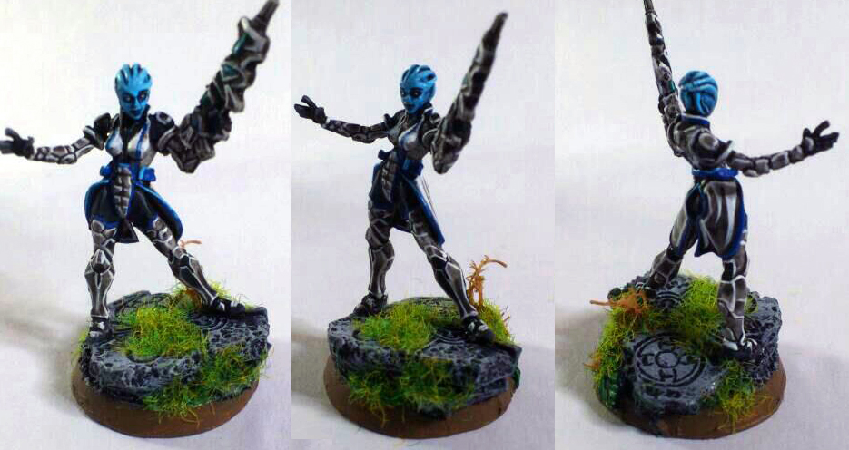 Liara miniature, converted for Warhammer 40K by Danhte