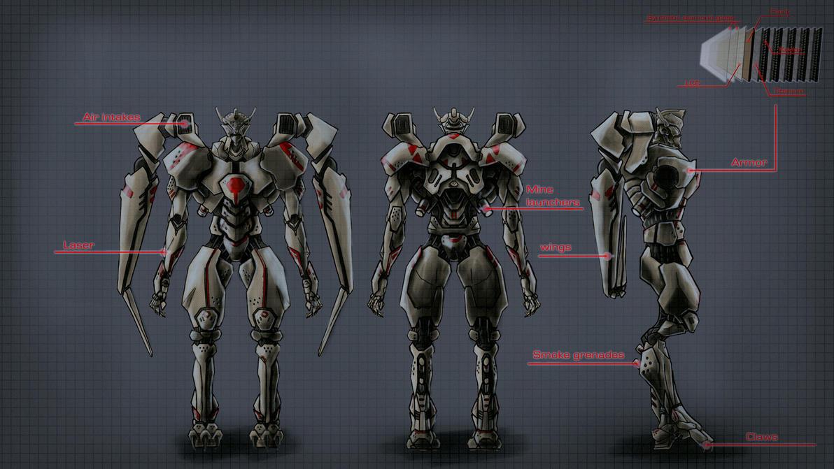 Cybo  Battle Robot consept by Avitus12
