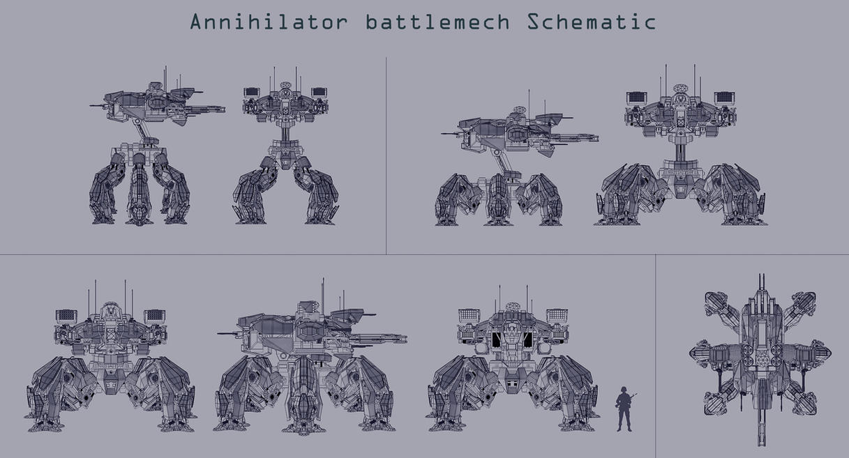 Annihilator battlemech Schematic by Avitus12