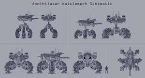 Annihilator battlemech Schematic