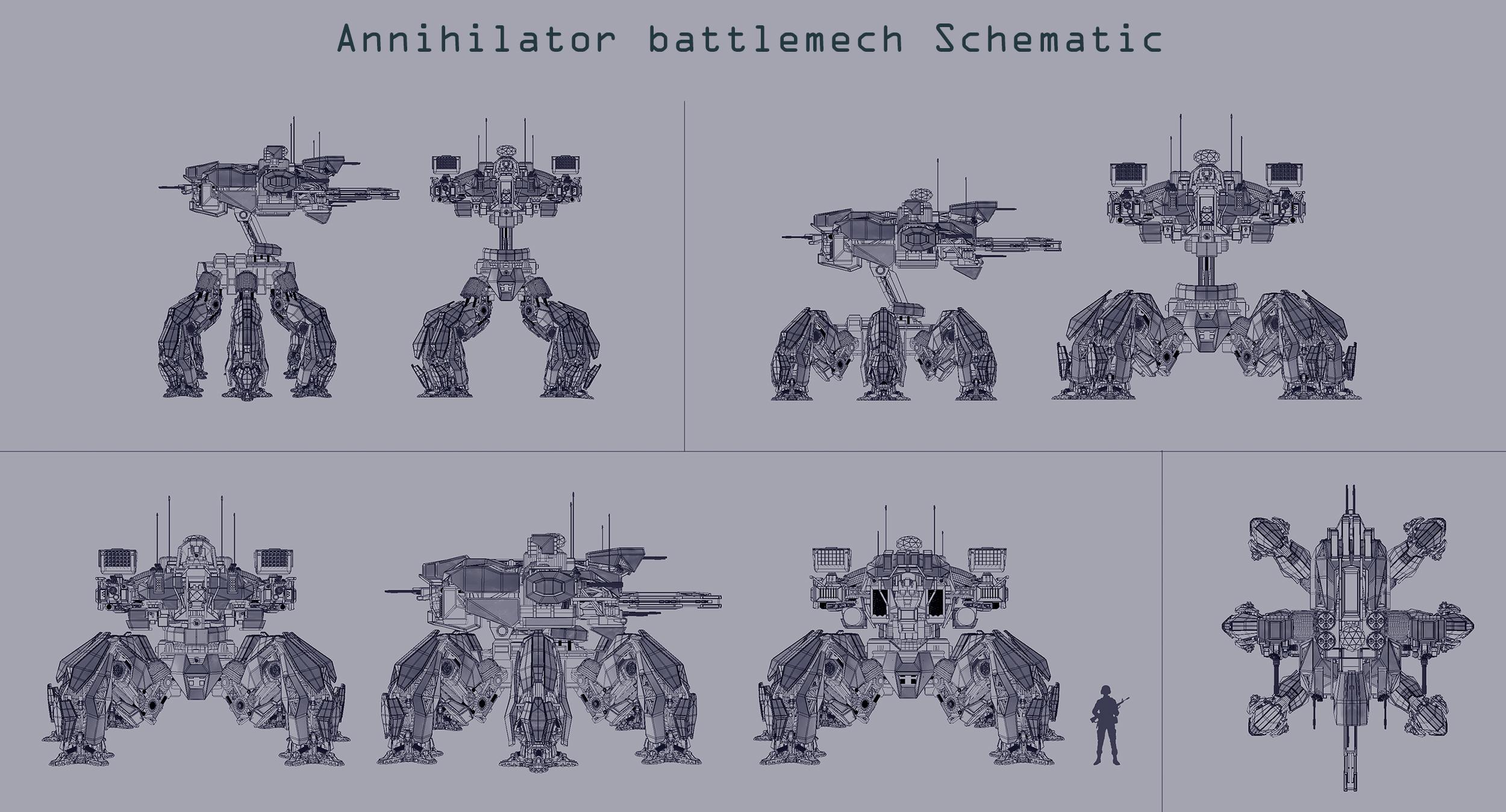 Annihilator battlemech Schematic by Avitus12