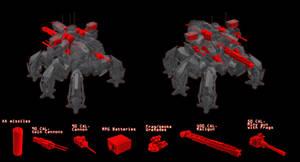 Annihilator battlemech Wepons Schematic