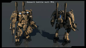 Front and back Assault battle suit MK1 finished