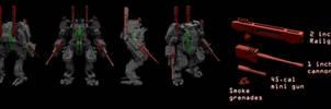 Assault battle suit MK1 schematic