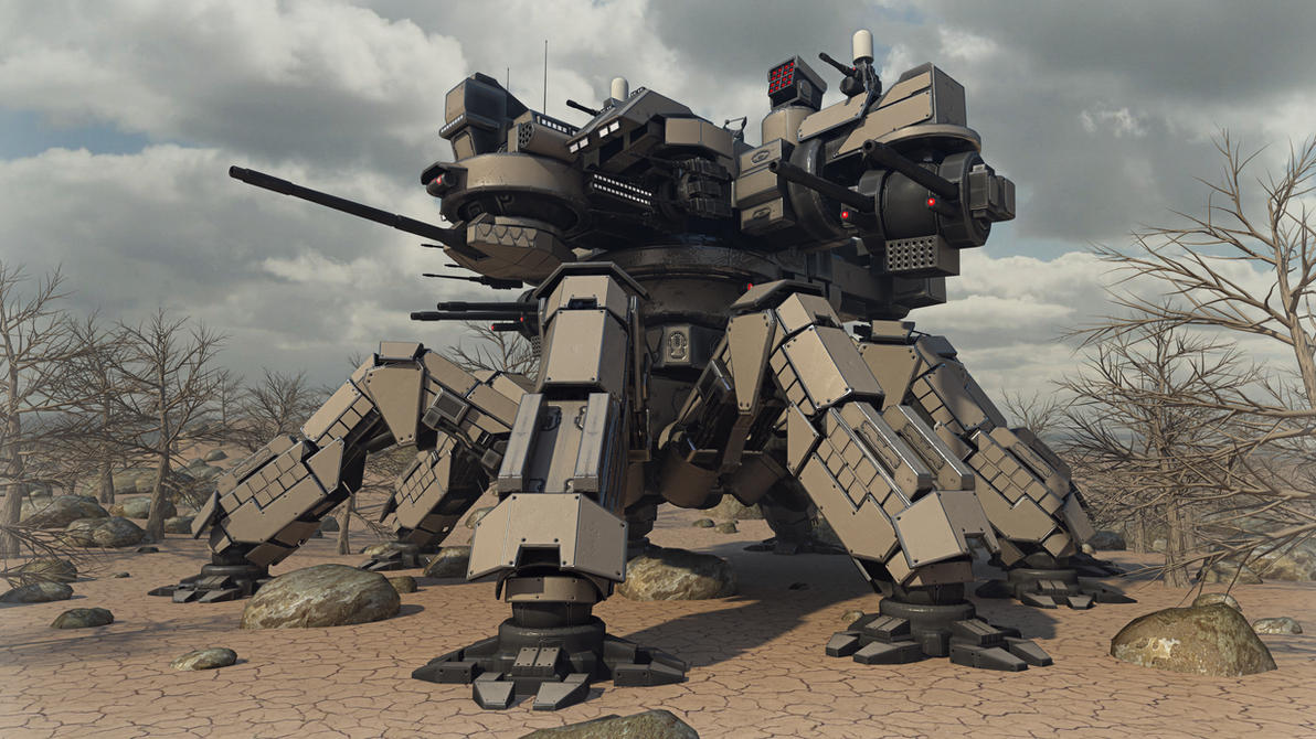 Desert Spider Mecha by Avitus12
