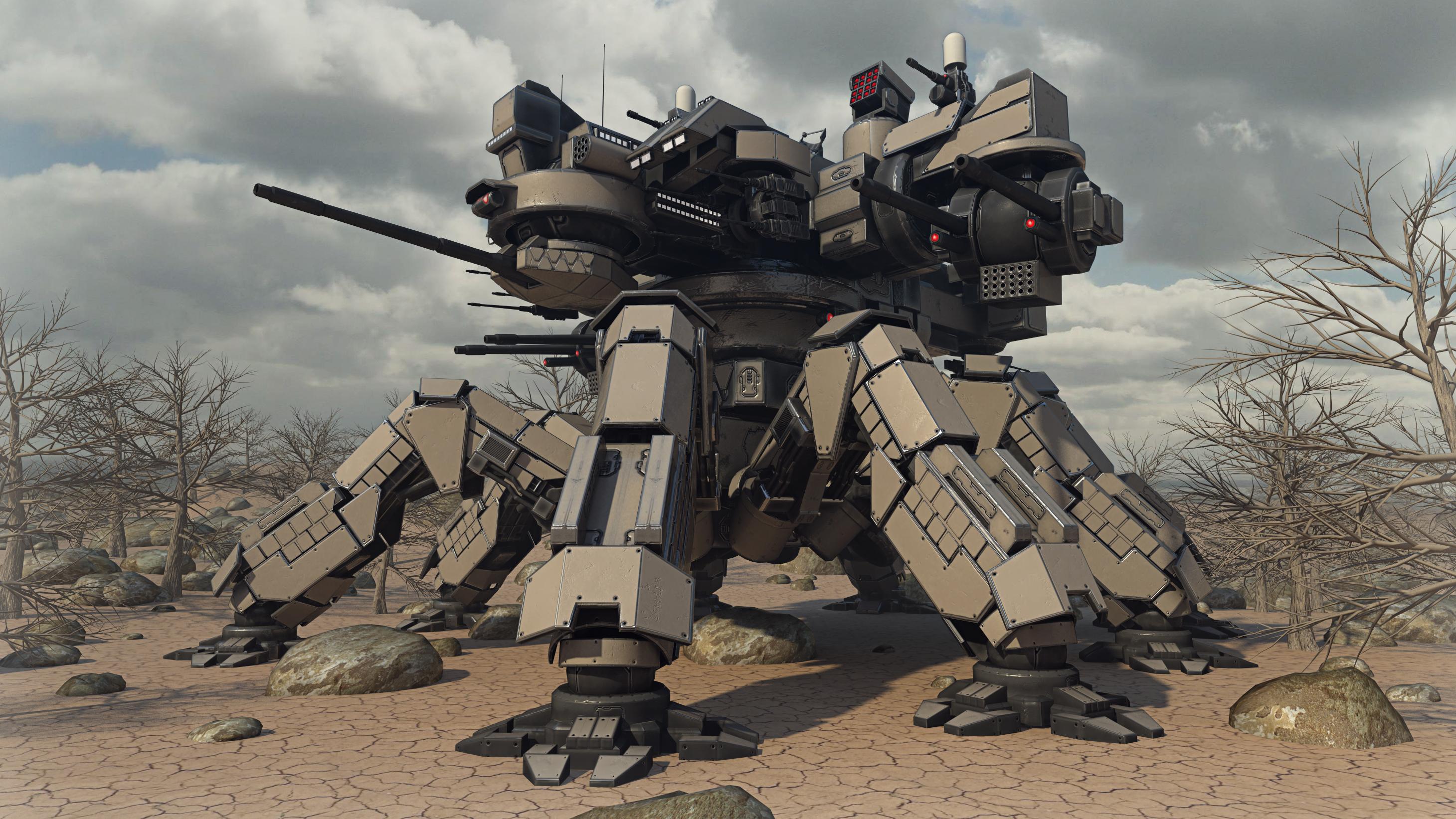Desert Spider Mecha by Avitus12