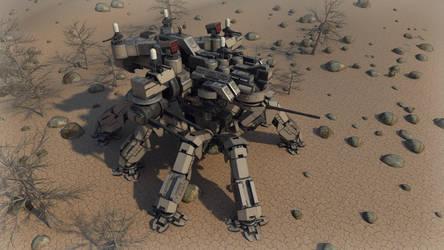Desert Spider mecha render 2