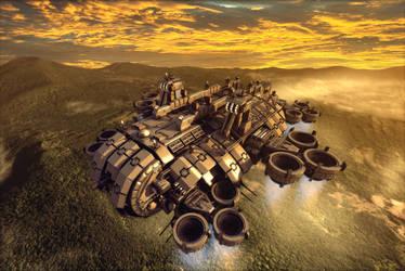 Thunderbolt Gunship render 1 by Avitus12