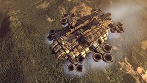 Thunderbolt Gunship render 2