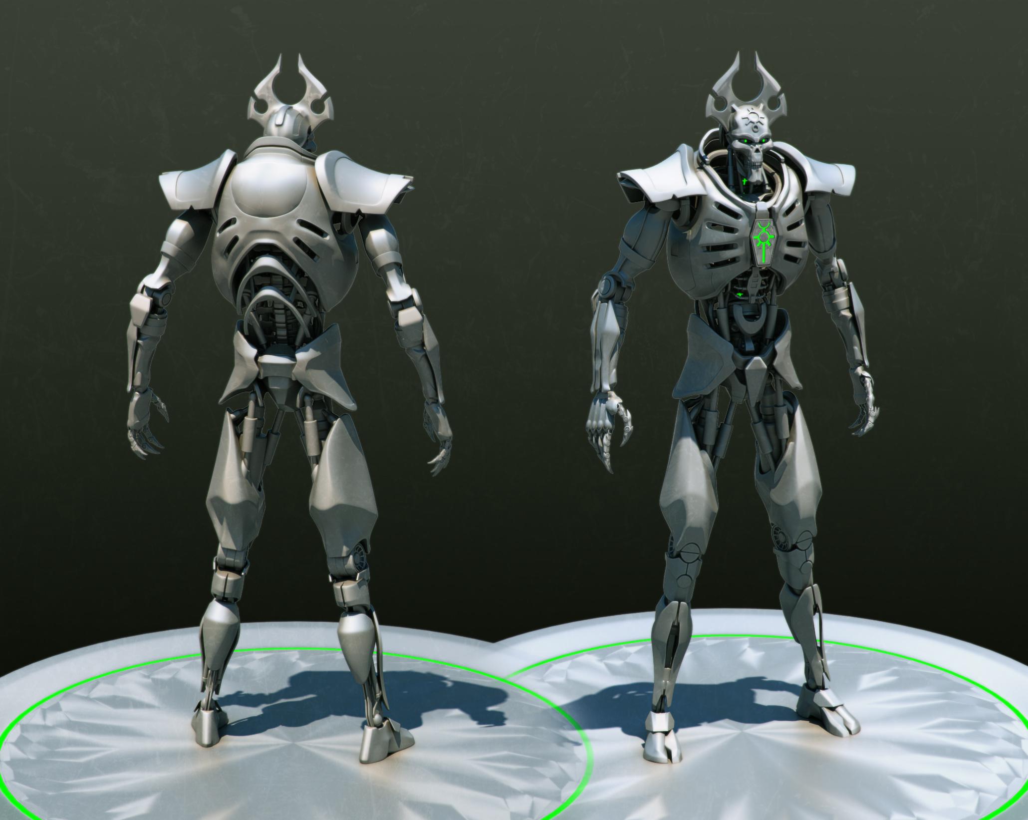 Necron lord WIP by Avitus12 on DeviantArt