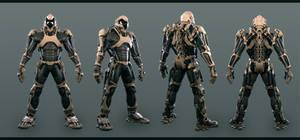 Finished super soldier exoskeleton #1