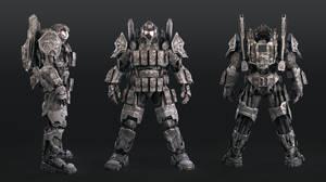 super soldier code name Chimera front back side
