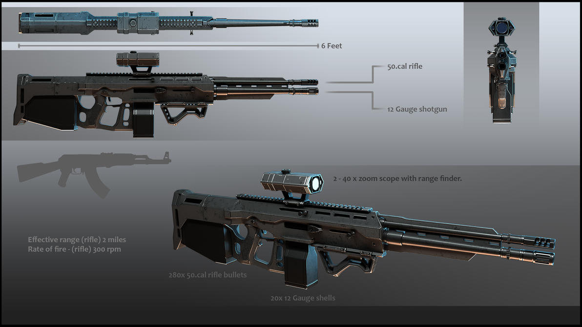 GR-3 rifle MK II presentation by Avitus12