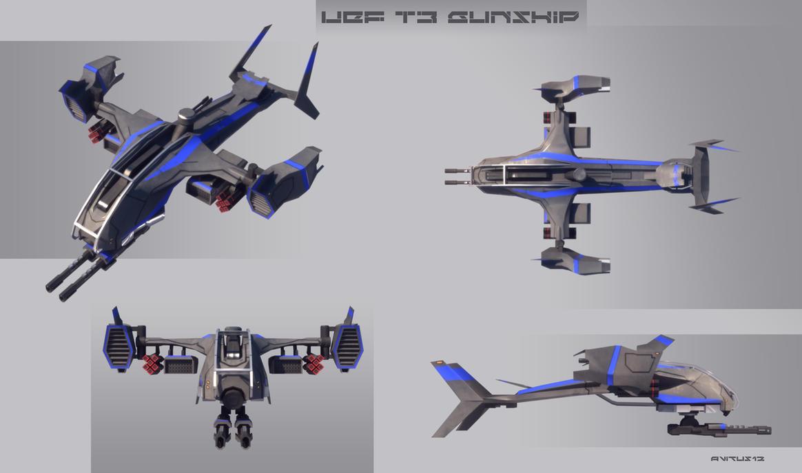 UEF T3 gunship MK II fnished by Avitus12
