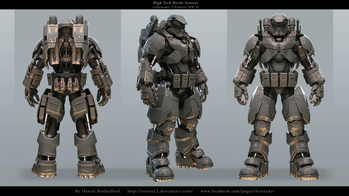 High tech Battle Armour codename Chimera MK-II