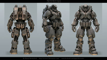High tech Battle Armour codename Chimera MK-II by Avitus12