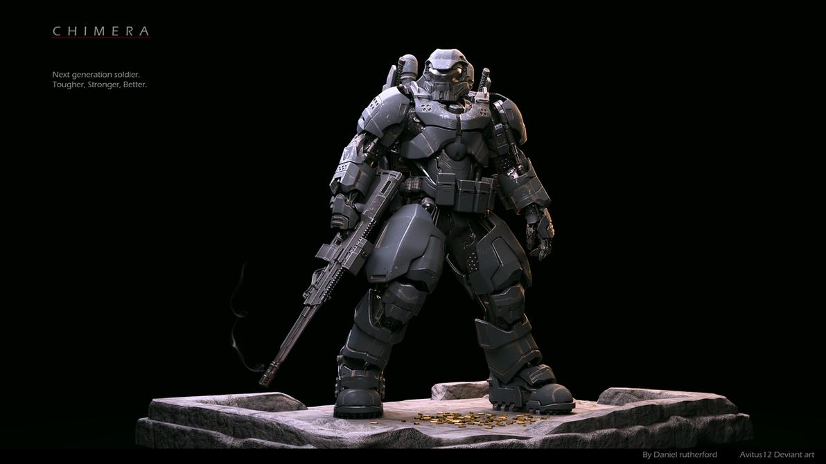 High tech Battle Armour Chimera MK-II r2 by Avitus12