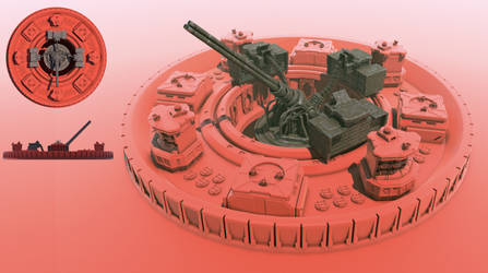 Shockwave Acapella - gatling artillery by Avitus12
