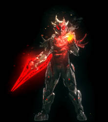 Spartan with Power sword