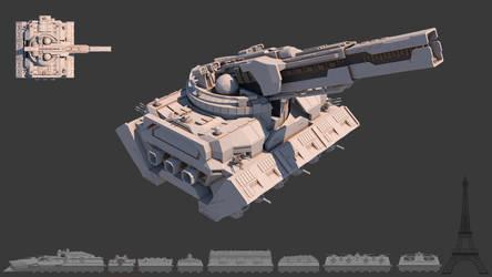 Tsviet military - War Train - Planetary Def Cannon