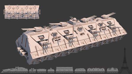 Tsviet military - War Train - The Gun Car