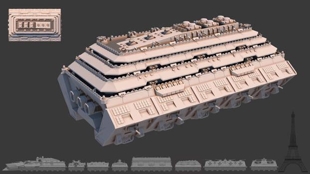 Tsviet military - War Train - Engine Car