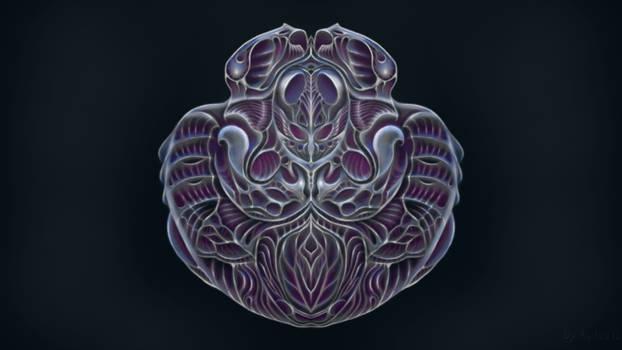 Flesh metal emblem
