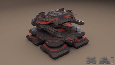 A.N.E.G. Fortress Command Platform 'Megadon' 1