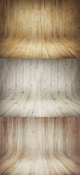 3 Curved Wooden Backdrops by GraphicBurger