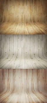 3 Curved Wooden Backdrops