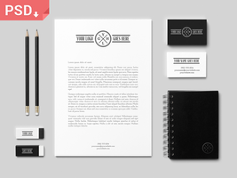 Branding / Identity Mock-Up PSD by GraphicBurger