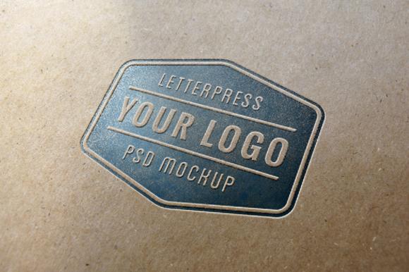 letterpress logo mockup free psd by graphicburger on deviantart
