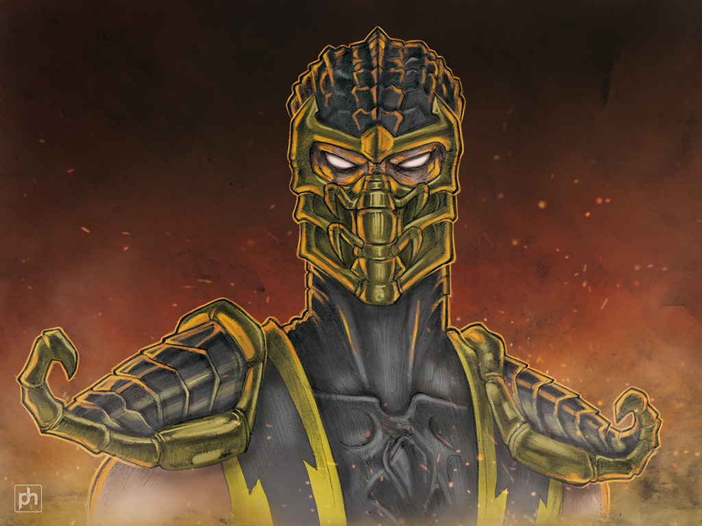 Scorpion colored drawing by phrenan