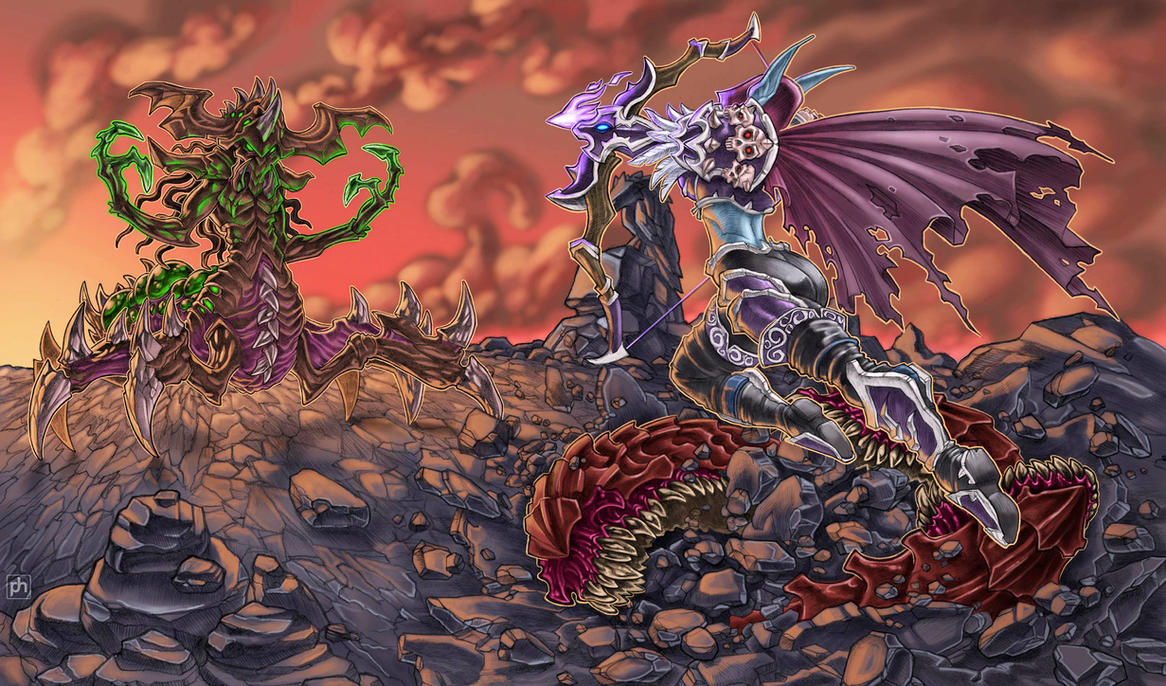 Heroes Of The Storm contest: Zagara vs Sylvanas by phrenan