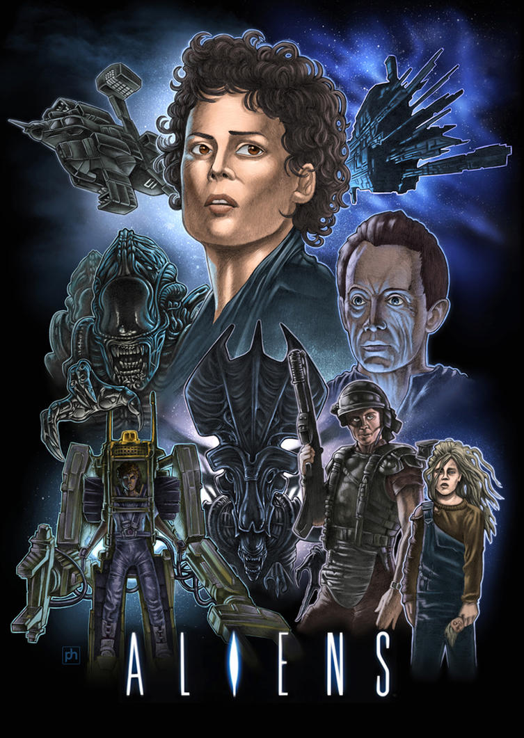 Aliens movie tribute poster by phrenan