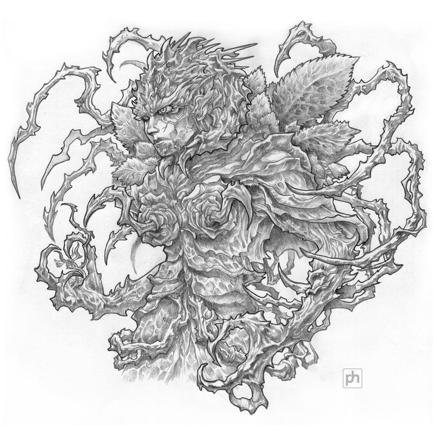 Rose demon pencil version by phrenan