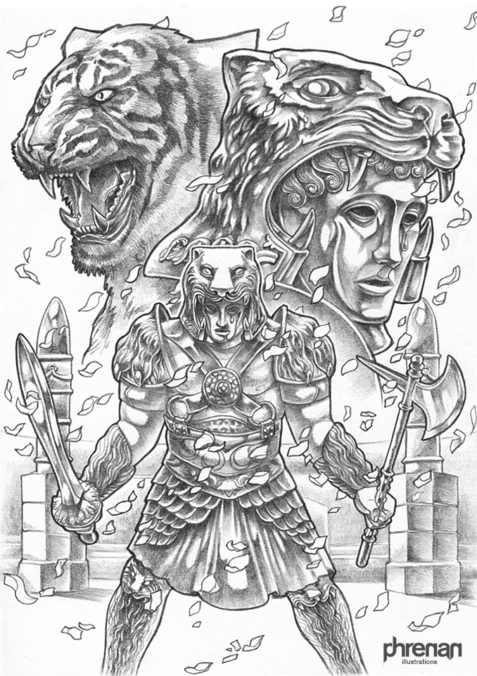 Tigris of Gaul (pencils) by phrenan