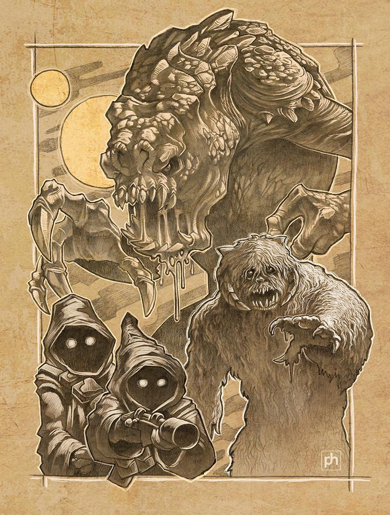 Starwars Creatures by phrenan