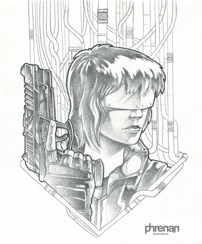 Ghost in the Shell pencils by phrenan