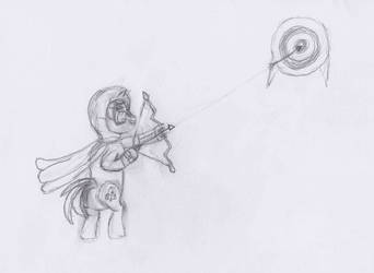 Hoodie Arrow's Archery Practice ATG day 26 by Starlight-Flux