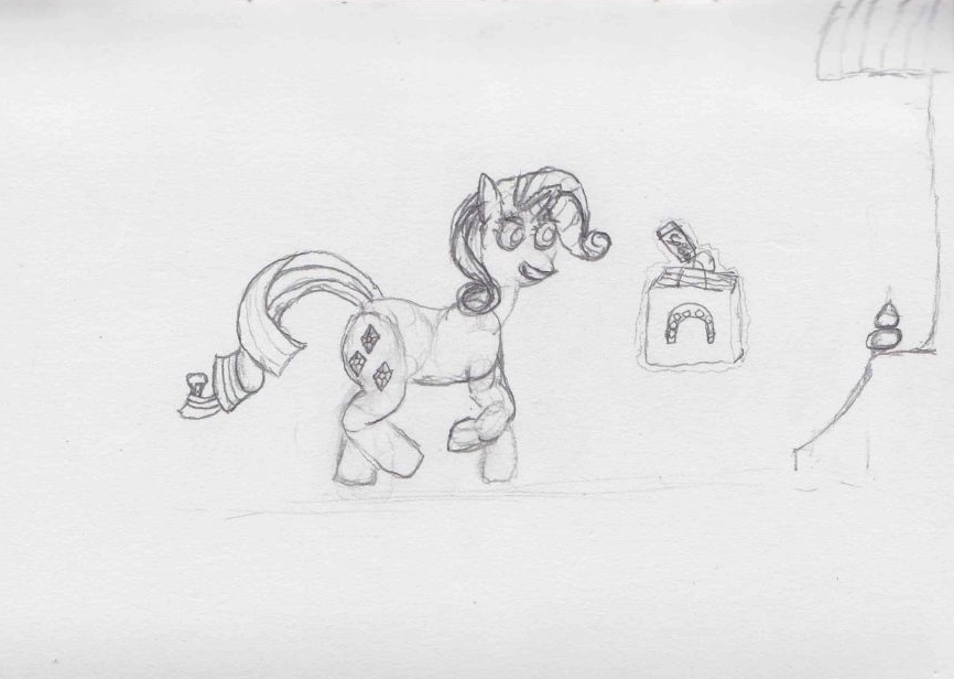 Rarity coming home from the sales - ATG Day 28 by Starlight-Flux