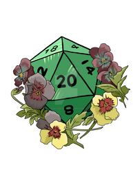 Flowers on a D20