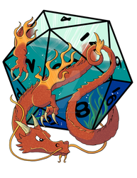 D20 Water Dragon