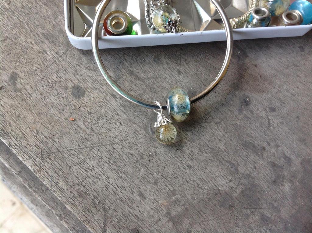 Resin beads for Pandora bracelet, in blue by CovenEye on ...