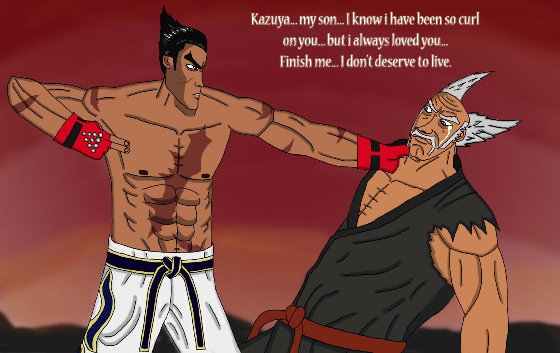 Kazuya Vs Heihachi Final Battle By Dragonwarrior Ht On Deviantart