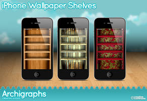 iPhone Wallpaper shelves