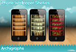 iPhone Wallpaper shelves by Cyberella74
