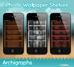 iPhone Wallpaper shelves -3 by Cyberella74